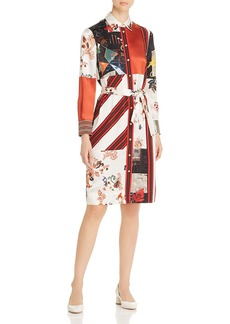 Tory Burch Patchwork-Print Shirt Dress