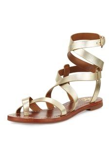 Tory Burch Patos Crisscross Flat Gladiator Sandal