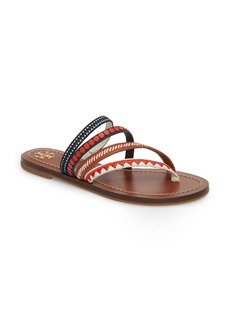 Tory Burch Patos Embroidered Thong Sandal (Women)