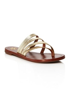 Tory Burch Patos Metallic Leather Thong Sandals