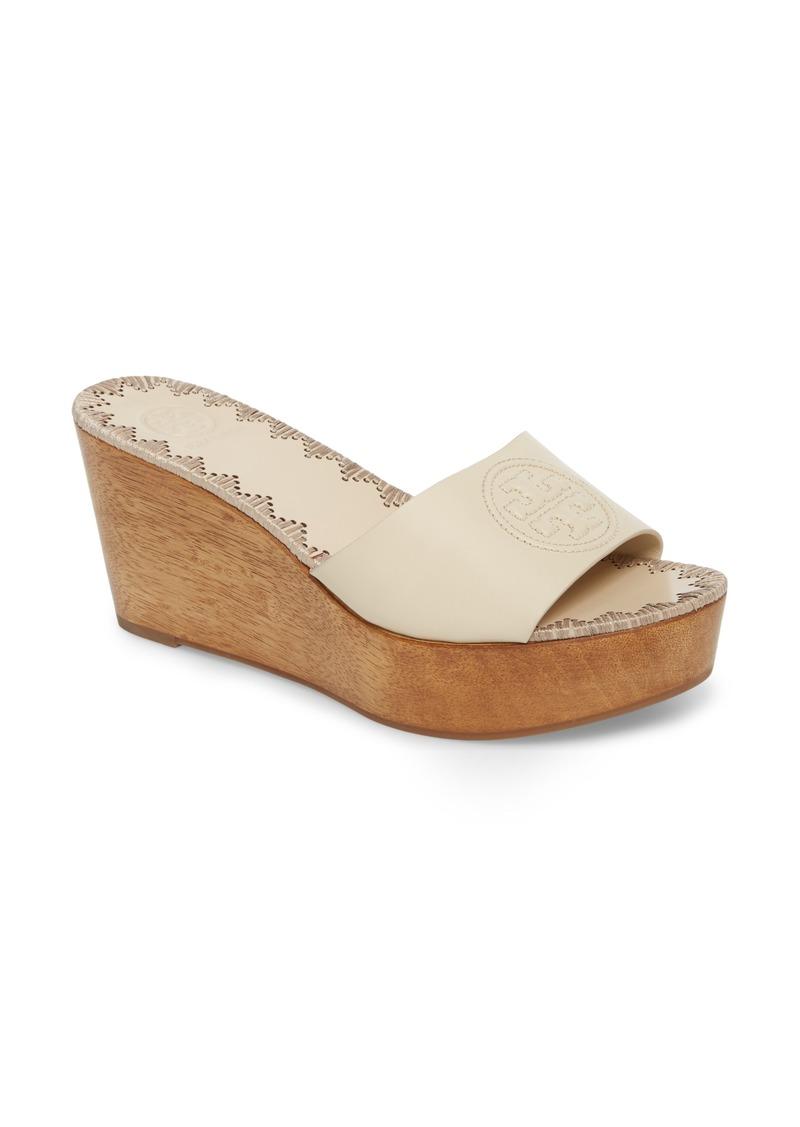 0c18d076ee614 Tory Burch Tory Burch Patty Logo Platform Wedge Sandal (Women) | Shoes