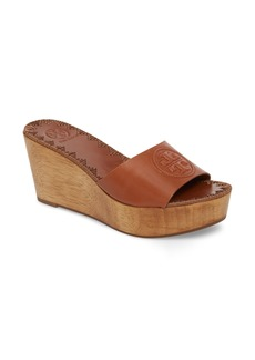 Tory Burch Patty Logo Platform Wedge Sandal (Women)