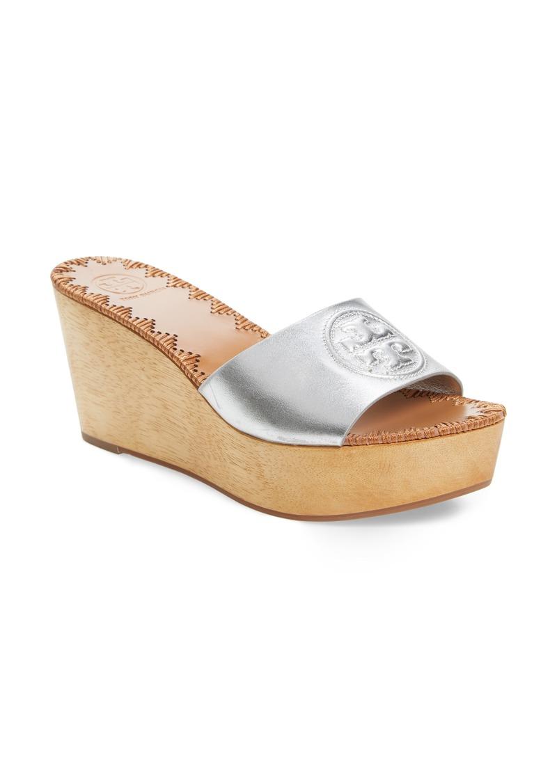 0fbcd325d6f565 Tory Burch Tory Burch Patty Logo Platform Wedge Sandal (Women)