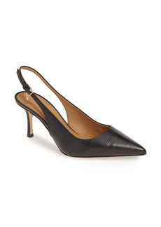 Tory Burch Penelope Cap Toe Slingback Pump (Women)