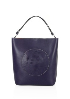 Tory Burch Perforated Logo Leather Hobo Bag