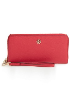 Tory Burch 'Perry' Leather Zip Continental Wallet