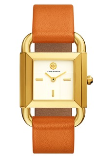Tory Burch Phipps Leather Strap Watch, 29mm x 41mm