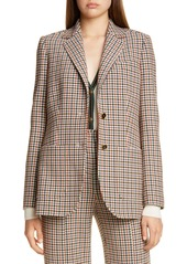 Tory Burch Plaid Blazer