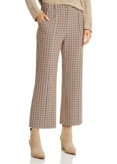 Tory Burch Plaid Cropped Bootcut Pants