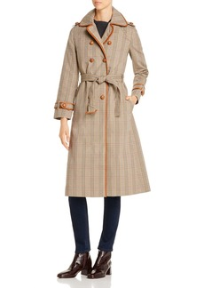 Tory Burch Plaid Trench Coat