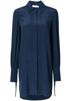 Tory Burch pleat detail shirt dress - Blue