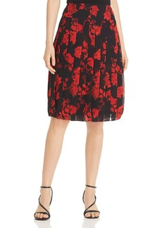 Tory Burch Pleated Floral Print Skirt