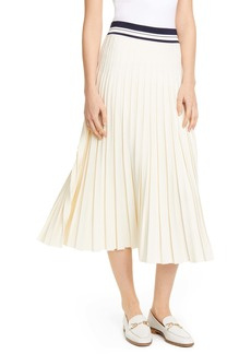 Tory Burch Pleated Sweater Skirt