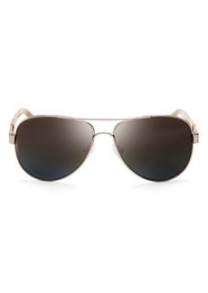 Tory Burch Women's Polarized Aviator Sunglasses, 57mm