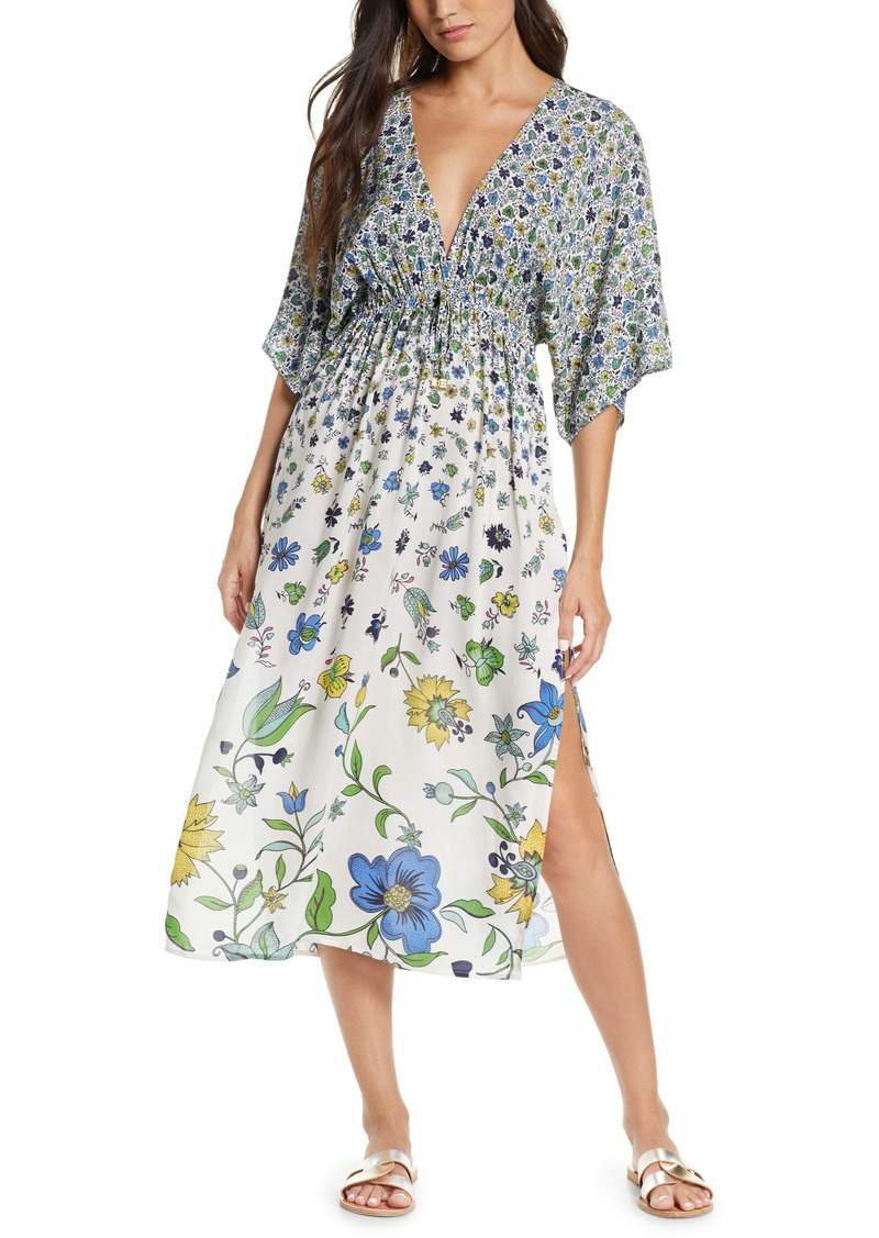 Tory Burch Pomelo Floral Cover-Up Dress