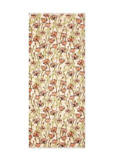 Tory Burch Poppy-Bloom Print Oblong Scarf