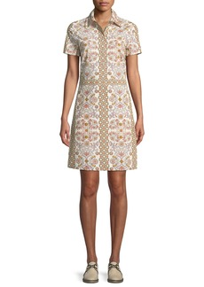 Tory Burch Port Garden-Print Shirtdress