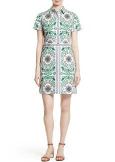 Tory Burch Port Print Poplin Shirtdress