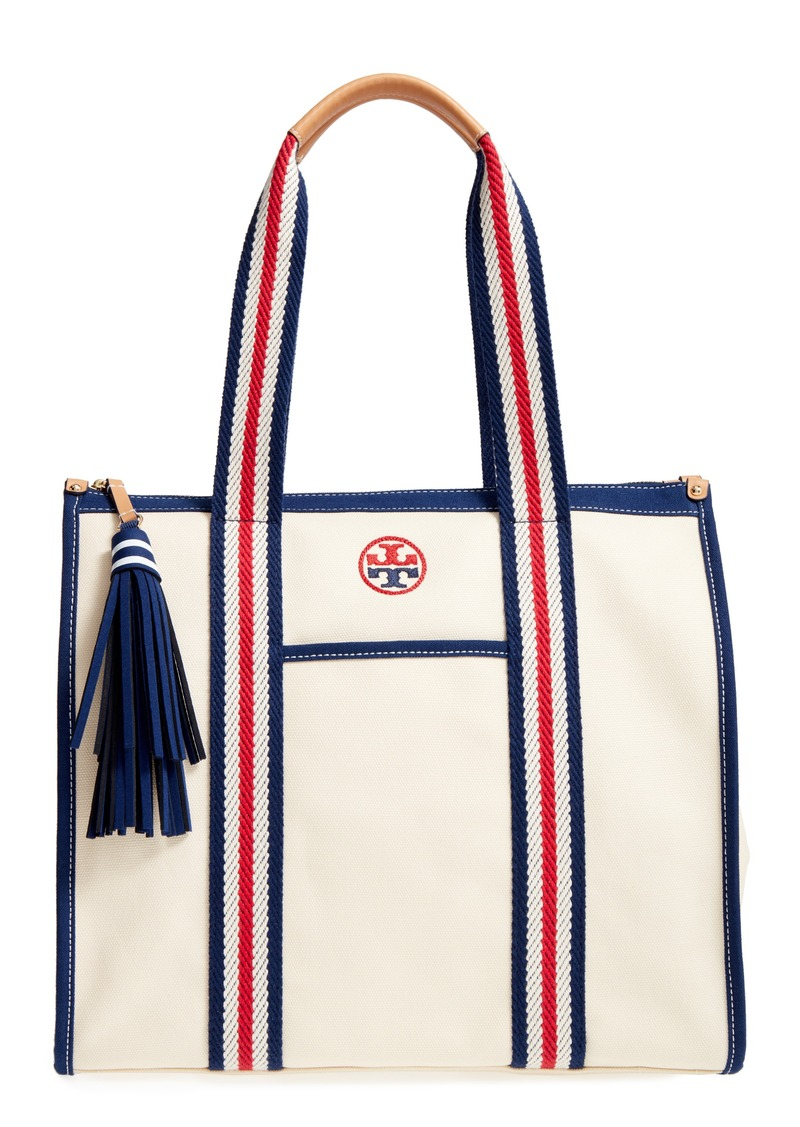 10058358040 Tory Burch Tory Burch Preppy Canvas Tote