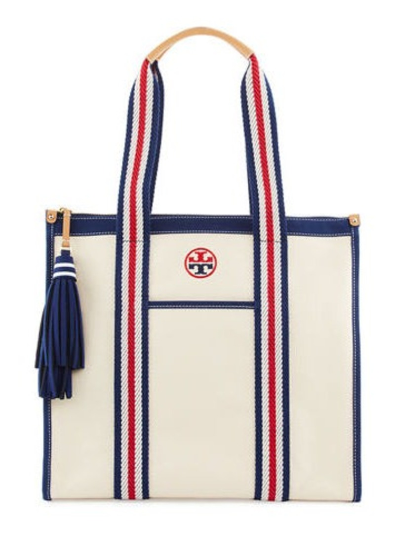 a9b0659b615 Tory Burch Tory Burch Preppy Canvas Tote Bag