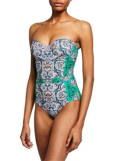1dc243a2b79 SALE! Tory Burch Clemente Printed Triangle Bikini