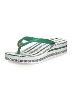 Tory Burch Printed Wedge Flip Flop