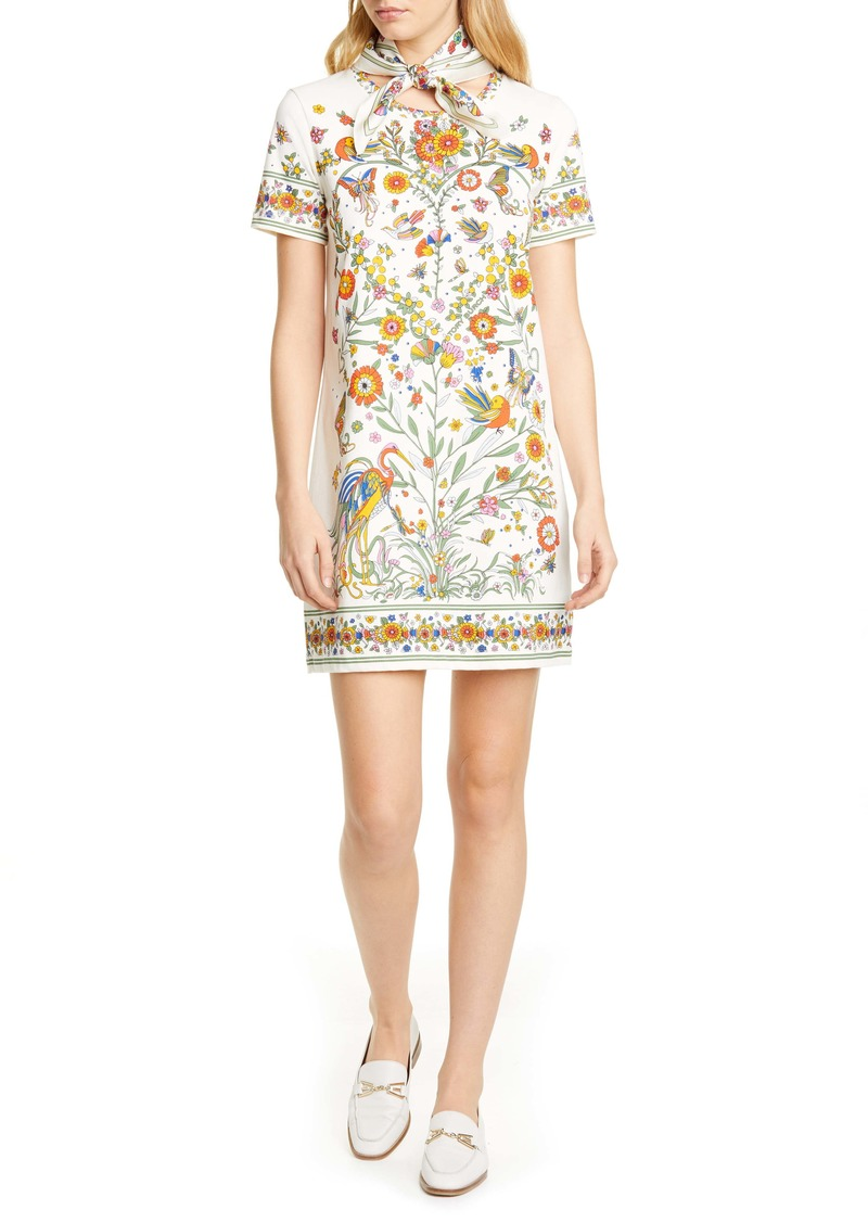 Tory Burch Printer Scarf T-Shirt Dress