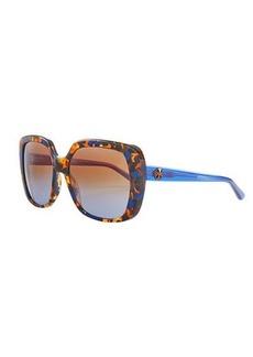 Tory Burch Rectangle Sunglasses w/ Transparent Arms