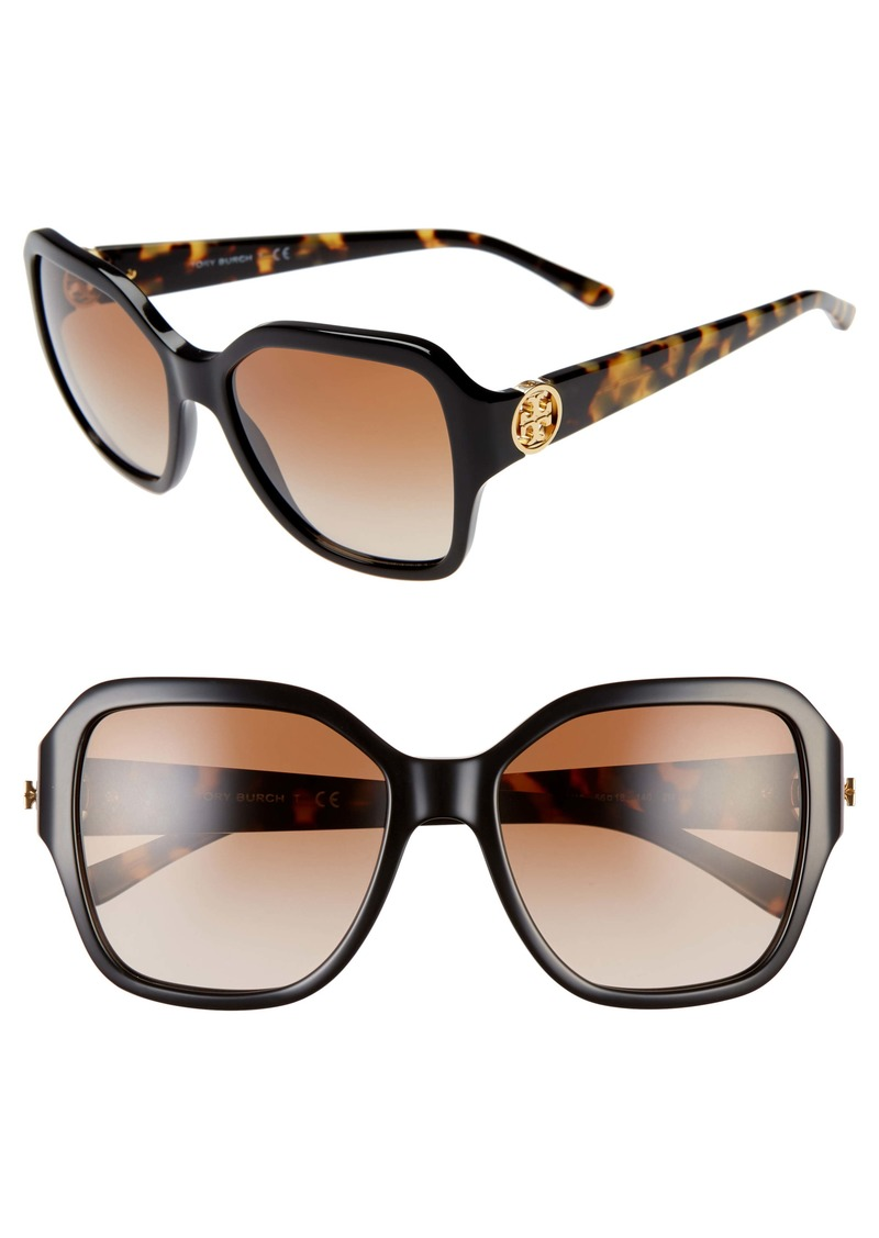 Tory Burch Reva 56mm Square Sunglasses