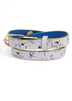 Tory Burch Reversible Print Leather Double Wrap Bracelet