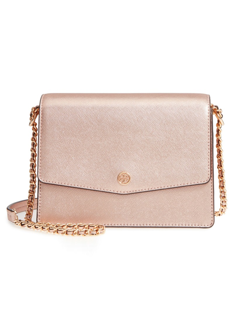 48ef7bfccdb Tory Burch Tory Burch Robinson Convertible Metallic Leather Shoulder ...