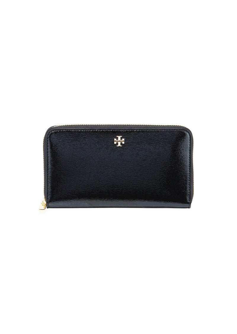 ddcfc5f64 Tory Burch Robinson Patent Leather Zip-Around Continental Wallet ...