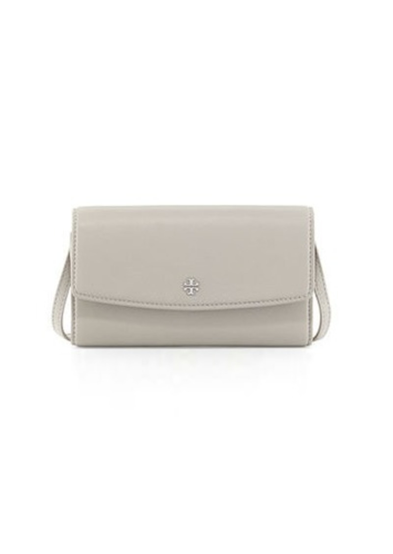 dcfb7e531ec Tory Burch Tory Burch Robinson Pebbled Leather Wallet on Crossbody ...