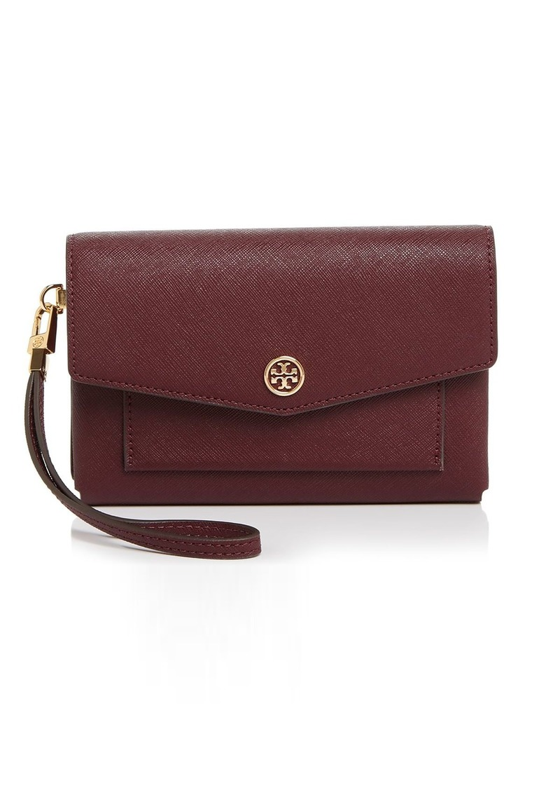 Tory Burch Robinson Small Leather Tech Wristlet