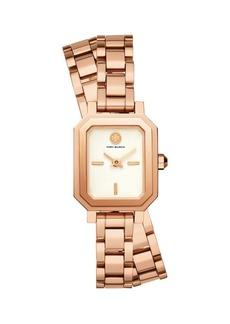 Tory Burch Robinson Stainless Steel & Double-Wrap Bracelet Watch