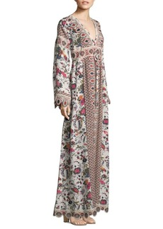 Tory Burch Rosemary Floral Maxi Dress
