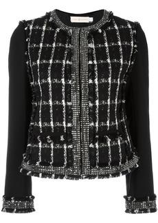 Tory Burch round neck embellished jacket - Black