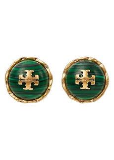 Tory Burch Roxanne Malachite Stud Earrings