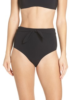 Tory Burch Sash Tie High Waist Bikini Bottoms