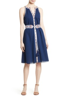 Tory Burch Savannah Embroidered A-Line Dress