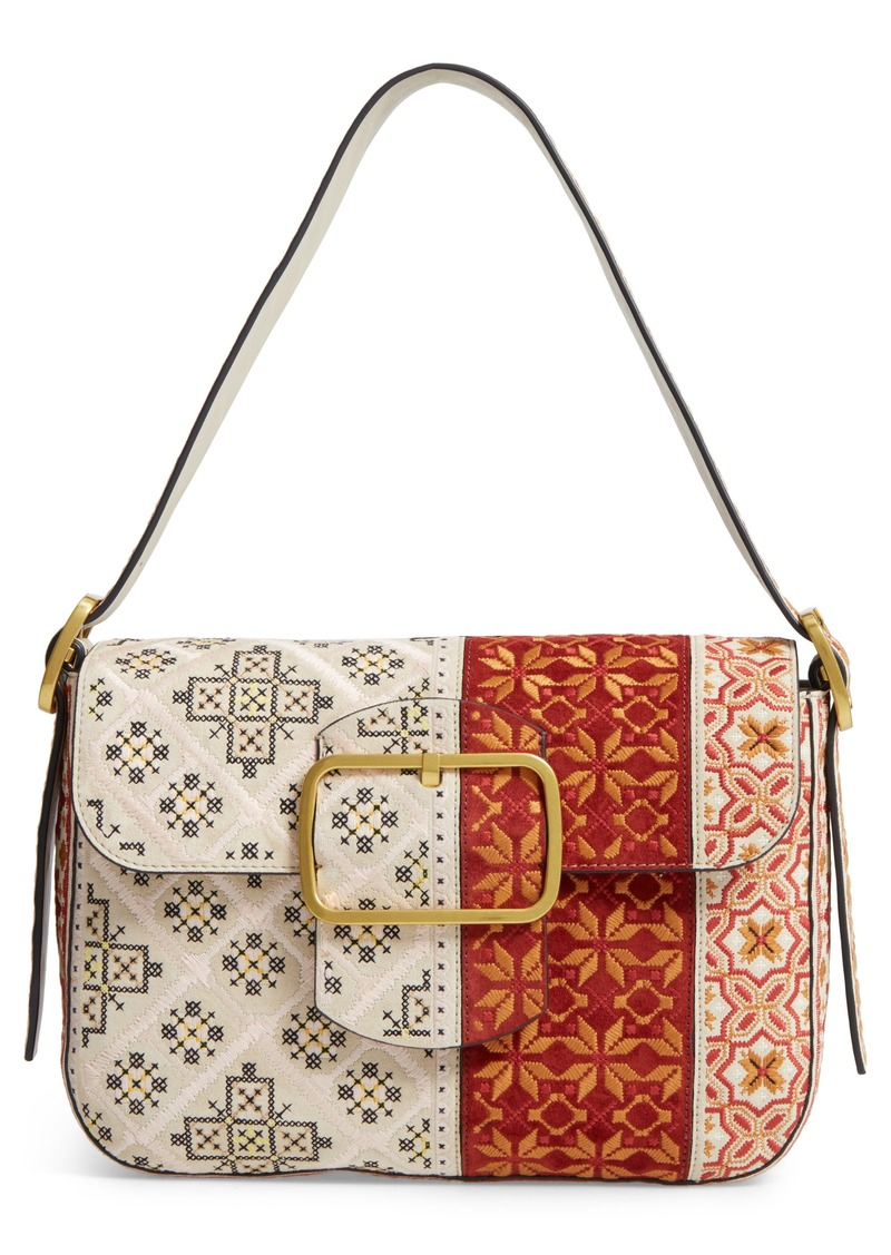 bca3de816fbf Tory Burch Sawyer Embroidered Shoulder Bag