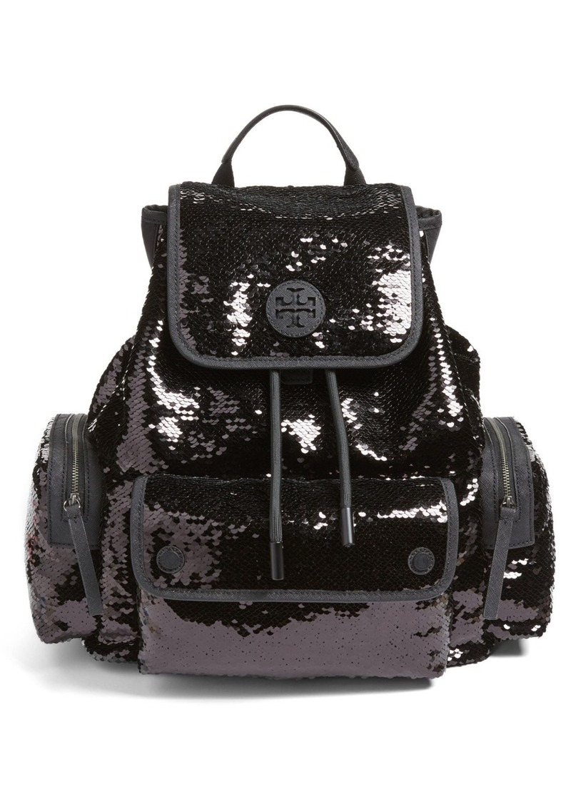 Tory Burch Scout Sequin Backpack