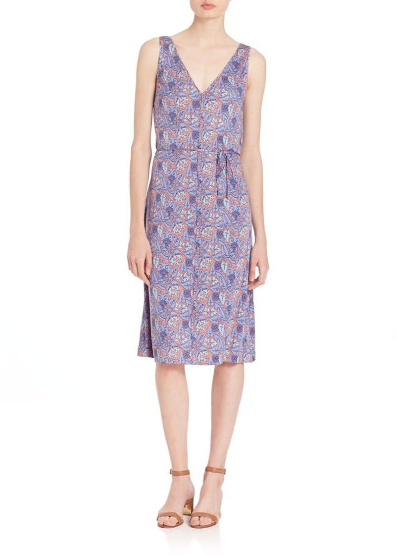 Tory Burch Sea Coral Artemis Sandy Silk Dress