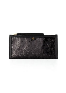Tory Burch Sequin Tassel Wristlet Clutch Bag
