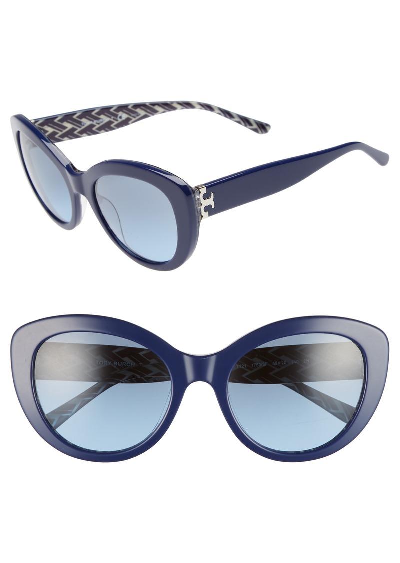 f07cda5be5c Tory Burch Tory Burch Serif T 55mm Cat Eye Sunglasses