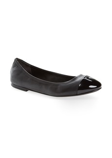 Tory Burch Shelby Cap Toe Ballet Flat (Women)