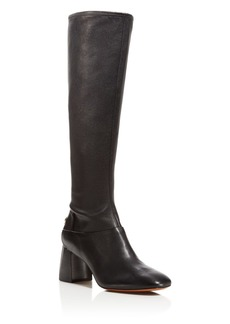 Tory Burch Sidney Block Heel Tall Boots