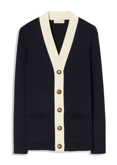 Tory Burch Simone Ribbed Cardigan