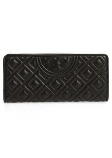 Tory Burch Slim Fleming Lambskin Leather Wallet