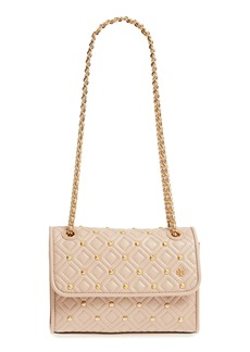 Tory Burch Small Fleming Stud Convertible Leather Shoulder Bag